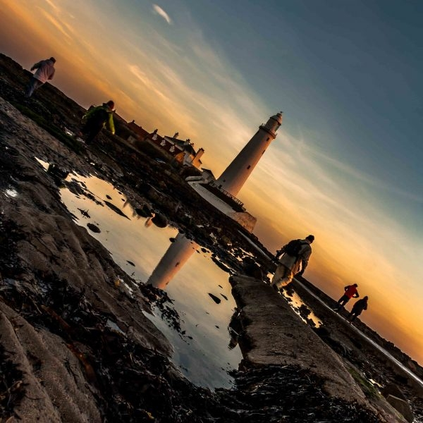 St Mary's lighthouse at sunrise