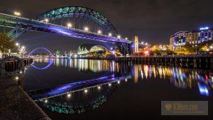 The Tyne Bridge at night