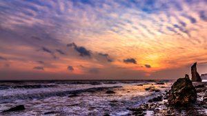 Ryhope beach at sunrise