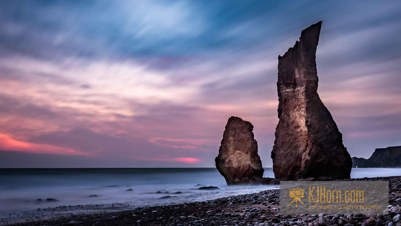 Ryhope beach sunrise