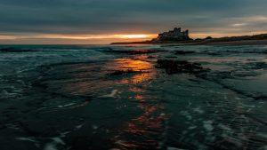 Bambrugh coastline at sunrise
